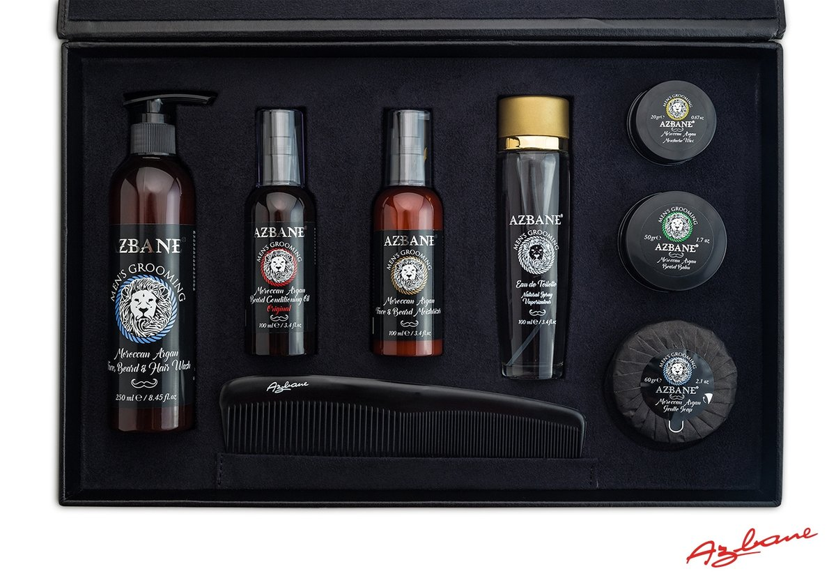 Coffret luxe barbe visage corps azbane