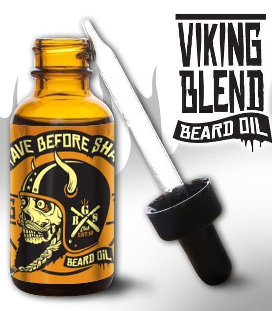 huile à barbe grave before shave viking blend